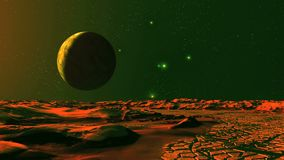 Рассвет и UFO на планете чужеземца видеоматериал