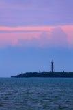 Рассвет маяка острова Sanibel стоковая фотография