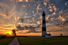 Рассвет маяка стоковое фото