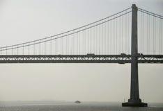 рассвет моста залива Стоковые Изображения