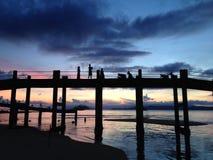 Рассвет моста Стоковые Изображения RF
