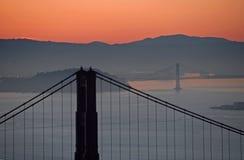 рассвет мостов Стоковая Фотография