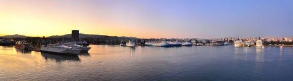 Рассвет над Афинами Стоковая Фотография RF