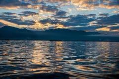Рассвет на озере Inle Стоковое Фото