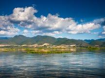 Рассвет на озере Inle Стоковое Изображение