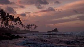 Рассвет на острове Цейлона Стоковое фото RF