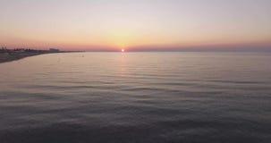 Рассвет на пляже под водой сток-видео