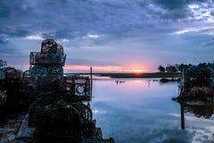Рассвет на приливе Стоковые Изображения RF