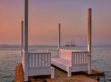 Рассвет на Эгейском море Стоковая Фотография RF