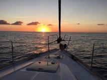 Рассвет над d'elba Isola Стоковые Изображения RF