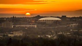 Рассвет Нью-Йорка холма университета Сиракуза Стоковые Фотографии RF