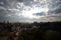 Рассвет по всему городу Стоковое Изображение RF
