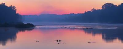 Рассвет реки Maumee стоковые изображения rf