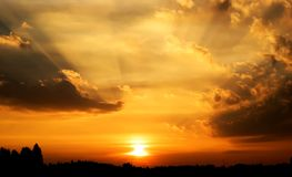 рассвет berlin Стоковое Фото