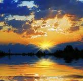 рассвет fiery стоковая фотография rf
