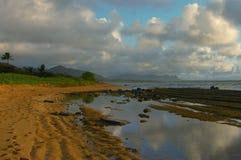рассвет kauai пляжа Стоковое Фото