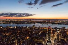 рассвет New York города Стоковые Изображения RF