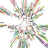Рассеивайте нашивка цвета, абстрактная предпосылка иллюстрация штока