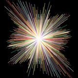 Рассеивайте нашивка цвета, абстрактная предпосылка иллюстрация вектора