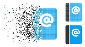 Рассеиванное полутоновое изображение точки посылает значок по электронной почте иллюстрация штока