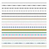 Рассекатели границы простой страницы декоративные Стоковое Изображение RF
