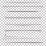 Рассекатель страницы Прозрачный реалистический бумажный комплект влияния тени Знамя сети вода вектора свежей иллюстрации конструк иллюстрация вектора