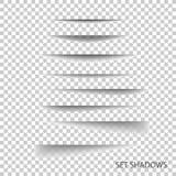 Рассекатель страницы Прозрачный реалистический бумажный комплект влияния тени иллюстрация вектора