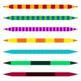 Рассекатели горизонтальной прямой Комплект красочного duotone прямого lin иллюстрация штока