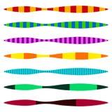 Рассекатели горизонтальной прямой Комплект красочного duotone прямого lin иллюстрация вектора