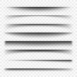 Рассекатель страницы с прозрачными тенями Комплект вектора разъединения страниц иллюстрация вектора