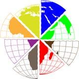 Рассеченная Африка Стоковое Изображение RF