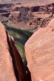 Расселина над загибом подковы, показывая Колорадо Стоковые Изображения