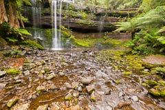 Рассел падает, водопад каскада tiered†«с острословием покрытым камнем Стоковая Фотография RF