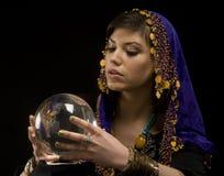 рассказчик удачи шарика кристаллический Стоковое Изображение