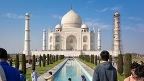 Рассказ влюбленности Taj Maha Агры, Индии Стоковые Фотографии RF