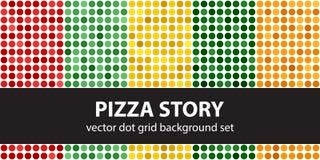 Рассказ пиццы точечного растра польки установленный Точка вектора безшовная геометрическая Стоковое Изображение
