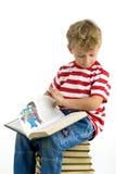 Рассказ чтения мальчика Стоковое Изображение RF