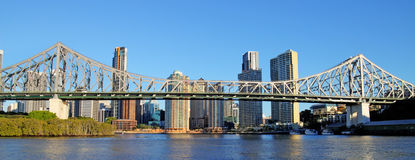 рассказ brisbane моста Австралии стоковые фотографии rf
