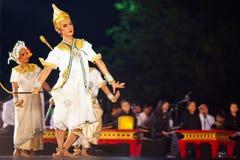 рассказ ramayana khon Стоковое Изображение RF