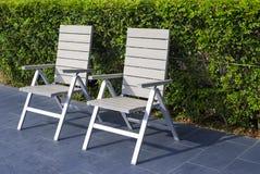 Расслабляющий стул на парке Стоковая Фотография RF