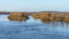 Расслоина реки Dnieper весной стоковое фото rf