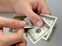 рассматривайте деньги Стоковые Изображения RF