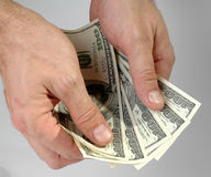 рассматривайте деньги Стоковое Изображение RF