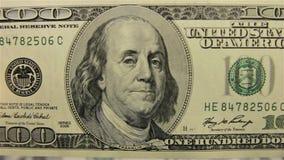 Рассматривать денег Съемка конца-вверх видеоматериал