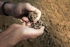 Рассматривая почва Стоковые Изображения
