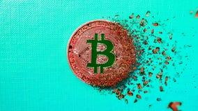 рассредоточенное действие Терпеть неудачу Bitcoin Стоковое Изображение RF
