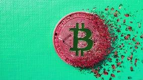 рассредоточенное действие Терпеть неудачу Bitcoin Стоковые Изображения