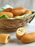 Расстегаи риса и яичка стоковые фото