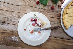 Расстегай вишни Предпосылка выпечки еды Стоковые Фото