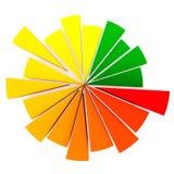 расстегай диаграммы цвета Стоковые Изображения
